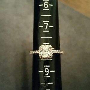Pandora Halo Rose Ring Size 8
